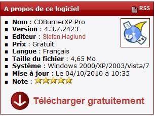 LOGICIEL DE GRAVURE CDBURNERXP TÉLÉCHARGER